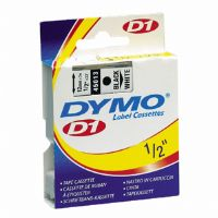 "Dymo D1 Black Printing On Yellow Tape 3/4"" x 23 Ft"