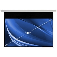 Accuscreen 800007 119&quot; Diagonal 16:9 Electric Projection Screen - White Case