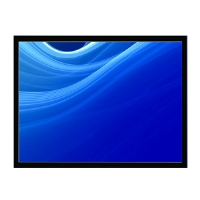 AccuScreen 800015 84&quot; Diagonal 4:3 Fixed Projection Screen - Black Velvet Frame