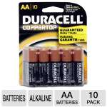 Duracell CopperTop MN1500B10Z 10-Pack AA Batteries - Alkaline