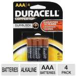 Duracell CopperTop MN2400B4Z 4-Pack AAA Batteries - Alkaline