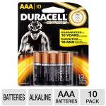 Duracell CopperTop MN2400B10Z 10-Pack AAA Batteries - Alkaline