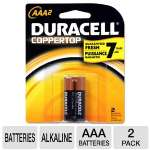 Duracell CopperTop MN2400B2Z 2-Pack AAA Batteries - Alkaline