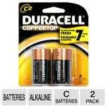 Duracell CopperTop 2-Pack C Batteries