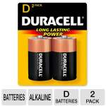 Duracell CopperTop MN1300B2Z 2-Pack D Batteries - Alkaline