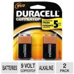 Duracell CopperTop MN1604B2Z 2-Pack 9 volt Battery - Alkaline