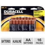 Duracell Coppertop MN1500B16Z16 16-Pack AA Batteries - Alkaline