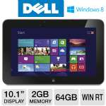"DELL XPS 10 Tablet - Windows 8 RT, Qualcomm Snapdragon S4 1.5GHz, 2GB Memory, 32GB eMMC Storage, 10.1"" Touchscreen, Wi-Fi, Dual Webcams, With Dock, (XPS10-3182BLK)"