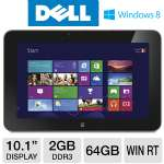 "DELL XPS 10 Tablet - Windows 8 RT, Qualcomm Snapdragon S4 1.5GHz, 2GB Memory, 64GB eMMC Storage, 10.1"" Touchscreen, Wi-Fi, Dual Webcams, With Dock, (XPS10-4091LK)"