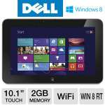"DELL XPS 10 Tablet - Windows 8 RT, Qualcomm Snapdragon S4 1.5GHz, 2GB Memory, 32GB eMMC Storage, 10.1"" Touchscreen, Wi-Fi, Dual Webcams, (XPS10-2727BLK)"