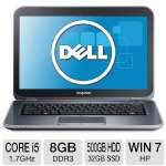 "Dell Inspiron 14z Ultrabook - 3rd generation Intel Core i5-3317U 1.7GHz, 8GB DDR3, 500GB HDD + 32GB SSD, DVDRW, 1GB AMD Radeon HD 7570M, 14"" Display, Windows 7 Home Premium 64-bit (i14z-6000sLV)"