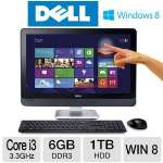 "DELL Inspiron 23 All-In-one PC - 3rd Generation Intel Core i3-3220 3.3GHz, 6GB DDR3, 1TB HDD, DVDRW, 23"" Display, Windows 8 64-bit, Keyboard & Mouse, (io2330-5001BK)"