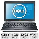 "Dell Latitude E6430 Notebook PC - 3rd generation Intel Core i5-3210M 2.5GHz, 4GB DDR3, 320GB HDD, DVDRW, 14"" Display, Windows 7 Professional 64-bit, 3 Year Warranty(469-3148)"