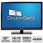 "DoubleSight 30"" Class Wide LCD Monitor - 2560 x 1600, 16:10, 1000:1 Contrast Ratio, 6ms (GTG), VGA, HDMI, CCFL Backlight, TAA Compliant  - DS-309W"