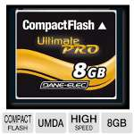 Dane-Elec DA-CF30-08G-C High Speed UDMA Compact Flash Card - 8GB