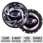 "Dual DS653 3-Way Triaxial Car Speaker - 120 Watt, 6.5"" (Pair)"