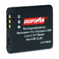 Digipower Replacement Li-Ion Battery for Olympus Li-50B