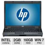 "HP Compaq 6910p Notebook PC - Intel Core 2 Duo 2.0GHz, 2GB DDR2, 160GB HDD, CD-RW/DVD-ROM Combo, 14.1"" WXGA, Windows 7 Professional 32-bit (Off-Lease)"