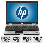 "HP EliteBook 8530w Notebook PC - Intel Core 2 Duo 2.8GHz, 2GB DDR2, 160GB HDD, DVDRW, 15.4"" Display, Windows 7 Professional 32-bit (Off-Lease)"