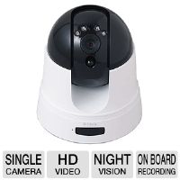D-Link Cloud Camera 5000 Pan/Tilt HD Network Camera - Pan/Tilt, HD, Day & Night, Night Vision, On-board Recording, Cloud Enabled (DCS-5222L)