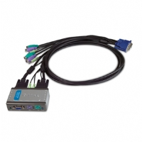 D-Link KVM 121 - KVM / audio switch - PS/2 - 2 x KVM / audio - 1 local user - (KVM-121)