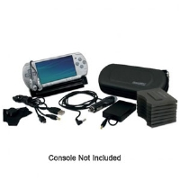 Dreamgear DGPSPS-1806 PSP/PSP Slim  17-in-1 Kit - Viewing Dock, Carrying Case, Power Data Cable, Car Charger