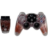 The Dreamgear DGPN-525 PS2 Lava Glow Wireless Controller looks unreal with its liquid glow handles and internal glowing LEDs.