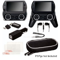 Dreamgear DGPSPG-2200 PSPgo 9-in-1 Starter Kit - Neo Fit Case, Earbuds, Dual USB Car Charger, Screen Protector, Clear Case, Wrist Strap, M2 Media Card Reader
