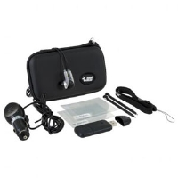 Dreamgear DGDSI-1932 DSi 9-in-1 Gamer Pack  - Carrying Case, USB SD Card Reader, Earbuds, Car Charger, Styluses, Screen Protectors, Black