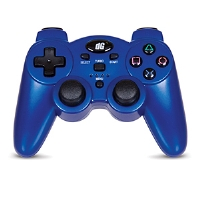 Dreamgear Radium Wireless Controller - PlayStation 3/PS3, Rumble and SIXAXIS Compatibility, USB Receiver, Requires 3 AAA Batteries, Blue