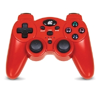 Dreamgear Radium Wireless Controller - PlayStation 3/PS3, Rumble and SIXAXIS Compatibility, USB Receiver, Requires 3 AAA Batteries, Red