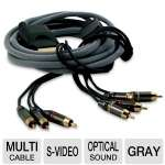 Dreamgear DG360-765 Multi Cable - Xbox 360, HD Component, S-Video, AV, Optical Sound, Gray