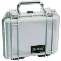 Pelican  1200 Small Hard Case with Foam-Silver