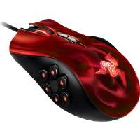 Razer  Naga Hex Wraith Red Laser Gaming Mouse (RZ01-00750200-R3U1)