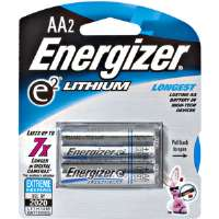 e� Lithium Batteries, AA, 2 Batteries/Pack