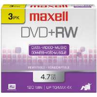 Maxell  4x Rewritable DVD+RW - 3/pack