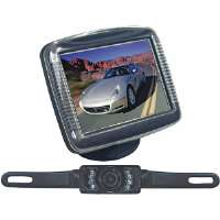 Pyle  3.5'' TFT-LCD Monitor with License Plate Night Vision Back-Up Camera