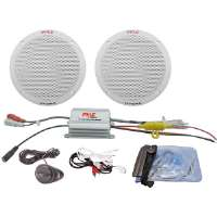 Pyle  2-Channel Waterproof MP3/iPod Amplified 6.5'' Marine Speaker System