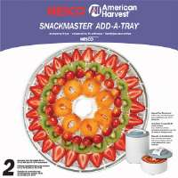 Nesco  Snackmaster� Pro Add-A-Tray�s For FD-61/61WHC/75PR Food Dehydrator/Jerky Maker - 2 Pack