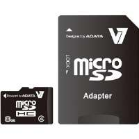 V7  8GB microSD Class 4 Memory Card With Adapter