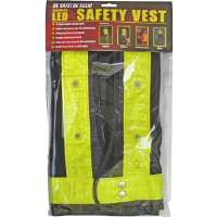 Maxsa Innovations  Reflective Safety Vest with 16 LED Lights - Yellow reflective