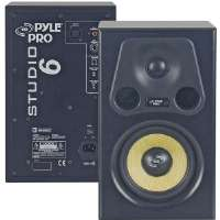 Pyle  6 1/2'' 350-Watt 2-Way Amplified Studio Monitor