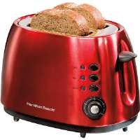 Hamilton Beach  2 SLICE CHERRY RED TOASTERBAGEL DEFROST & CANCEL F