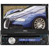 "Boss  7"" Single DIN Touch Screen TFT Monitor AM/FM Receiver"