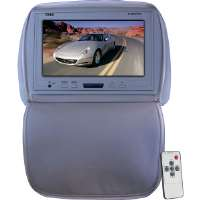 "Pyle  Gray 9"" Adjustable LCD Headrest with IR Transmitter"