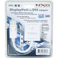 NXG Technology  Display Port (Male) to DVI Adapter (Female)