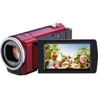 JVC  Compact Memory Camcorder With 40x Optical Zoom-Red