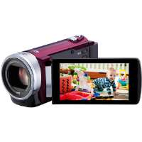 "JVC  Compact Full HD Memory Camcorder with 3"" Touch Panel LCD-Red"