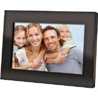 "Coby  7"" Widescreen Black Digital Photo Frame"