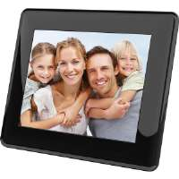 "Coby  8"" Widescreen Black Digital Photo Frame"